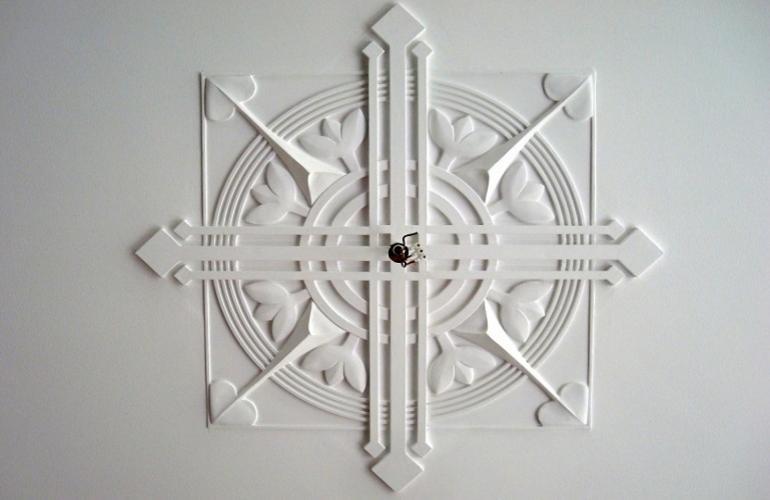Art deco gipsplafond stucplafonds en gipsornament restauratie gipsornamenten varr restauratie - Eetkamer art deco ...