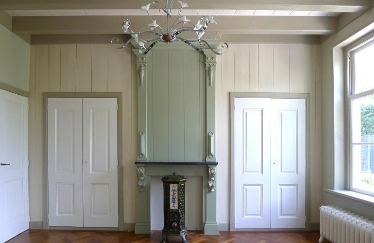 Houten schouw timmerwerk interieurrestauratie hout varr restauratie - Houten timmerwerk ...
